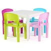Tot Tutors Kids' 5 Piece Square Table and Chair Set