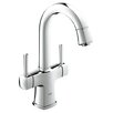 Grohe Grandera Single Hole Bathroom Sink Faucet Double Handle with Drain Assembly