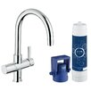 Grohe Single Handle Pure Water System Sink Faucet