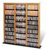 Prepac Floor Media Triple Width Barrister Multimedia Storage Rack