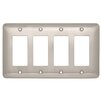 Franklin Brass Stamped Round Quad Decorator Wall Plate