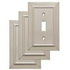 Franklin Brass Classic Architecture Single Switch Wall Plate (Set of 3)