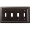 Franklin Brass Classic Architecture Quad Switch Wall Plate