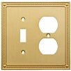 Franklin Brass Classic Beaded Single Switch Gang Duplex Wall Plate