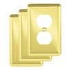 Franklin Brass Stamped Round 1 Gang Duplex Wall Plate (Set of 3)