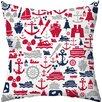 Checkerboard, Ltd Seafarer Outdoor Throw Pillow
