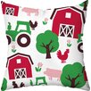 Checkerboard, Ltd Happy Farm Throw Pillow