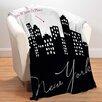 Checkerboard, Ltd New York Personalized Fleece Throw Blanket
