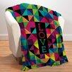 Checkerboard, Ltd Geometric Love Fleece Throw Blanket