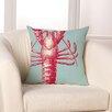 Checkerboard, Ltd Lobster Throw Pillow