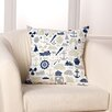 Checkerboard, Ltd Sea Time Throw Pillow