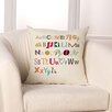 Checkerboard, Ltd Alphabet Medley Throw Pillow