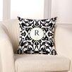Checkerboard, Ltd Damask Monogram Personalized Throw Pillow