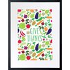 Checkerboard, Ltd Give Thanks Framed Graphic Art