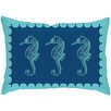 Checkerboard, Ltd Seahorses Outdoor Lumbar Pillow