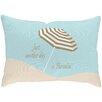 Checkerboard, Ltd Sandy Footprints for 5 Lumbar Pillow