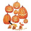Wallies Jack O'Lanterns Vinyl Holiday Wall Decal (Set of 2)