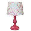 "The Peanut Shell Mila 17"" Table Lamp with Drum Shade"