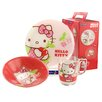 Creatable Children's Service Hello Kitty 3 Piece Place Setting