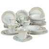 Creatable Soft 30 Piece Porcelain Combo Service Dinnerware Set in Finesse Marron