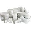 Creatable 50 Piece Square Combo Service Dinnerware Set in White