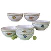 Creatable Alba Obst 6 Piece Cereal Bowl Set
