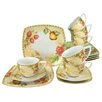 Creatable Country 18-Piece Porcelain Tea Set