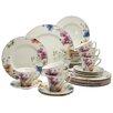 Creatable Cosmea Premium Porcelain 30 Piece Dinnerware Set