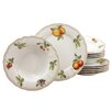 Creatable Orchard 12 Piece Porcelain Dinnerware Set