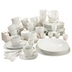 Creatable Square 70 Piece Porcelain Dinnerware Set