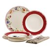 Creatable Cornwall Garden 12 Piece Porcelain Dinnerware Set