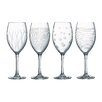 Creatable Lounge Club 4 Piece Red Wine Glass Set