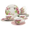 Creatable Amelia Rose 18 Piece Coffee Set