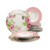 Creatable Amelia Rose 12 Piece Dinnerware Set