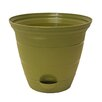 Self-Watering Pot Planter - Color: Terra Green, Size: 7 inch High x 8 inch Wide x 8 inch Deep, Set Of: 4 - Misco Home and Garden Planters