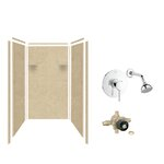Samson Solid Surface Three Panel Shower Wall Kit Amp Reviews