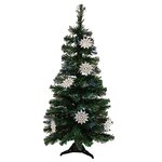 Ls Arts Inc Glass Christmas Tree With Ornaments