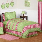 Greenland Home Fashions Polka Dot Stripe Quilt Set