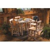 Rustic Natural Cedar Furniture Dining Sets