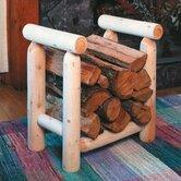 Rustic Natural Cedar Furniture Log Storage