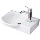 Fackelmann Waschbecken und Wasserhahn