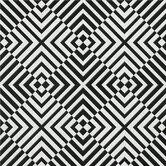 The Hypnotist 33' x 20'' Geometric Flocked Wallpaper