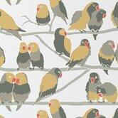 """Analog 15' x 27"""" Lovebirds Wallpaper (Set of 2)"""