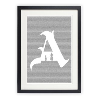 Modern Postertext The Scarlet Letter Framed Graphic Art | AllModern
