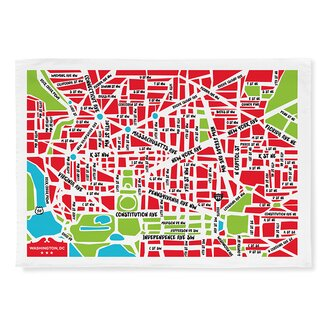 Naked decor nation capital map tea towel allmodern for Decor nation
