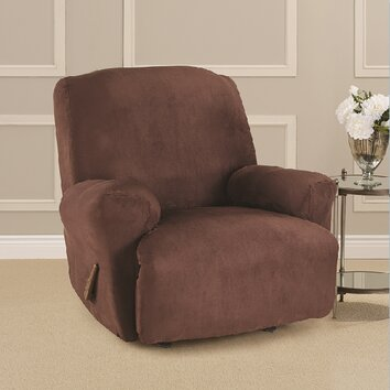 ultimate heavyweight stretch suede recliner slipcover