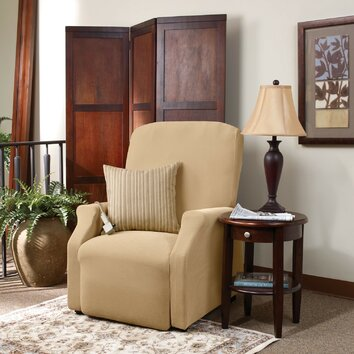 stretch pique recliner slipcover wayfair