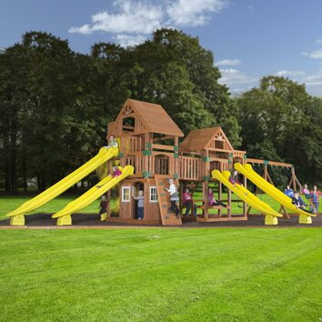 Safari Cedar All Cedar Swing Set Wayfair