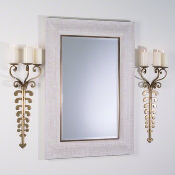 bathroom mirrors framed ferro 3 lights wall sconce wayfair 11132