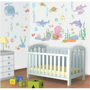 bathrooms for kids walltastic wall baby the sea wall decal wayfair 11988